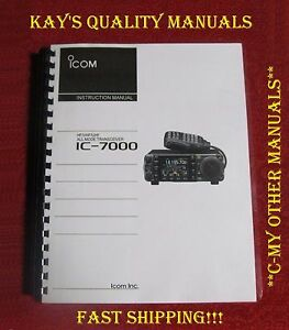 High-Quality-ICOM-IC-7000-Instruction-Manual-Color-on-32LB-w-The-Heavier-Covers