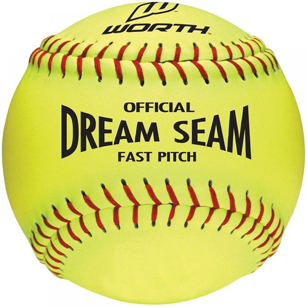 Vale la pena sueño Costura 11  Asa Cuero Fastpitch Softball C 11 rojoactado 1 Docena