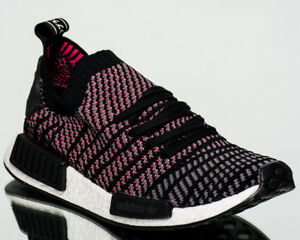 7cfc07756aa4 adidas Originals NMD R1 STLT Primeknit PK men NEW black grey pink ...