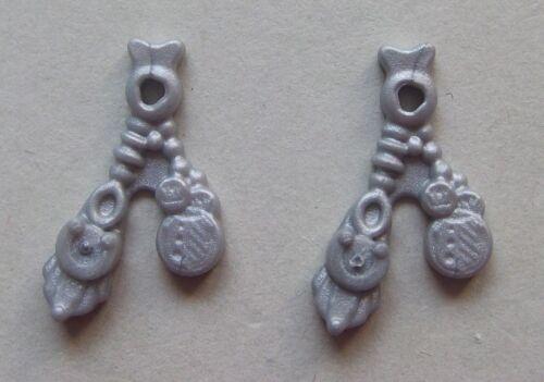 silber Münze 16911 2x Hutschmuck Pirat