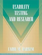 Usability Testing and Research (Part of the Allyn & Bacon Series in Te-ExLibrary