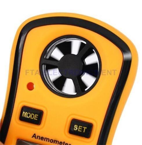 Mini LCD Smart Wind Speed Gauge Meter Sport Anemometer Temperature display °C// F