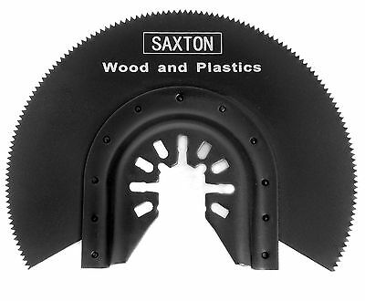 3x Saxton 88mm Segmented Wood Blades Dewalt Stanley Oscillating Multitools