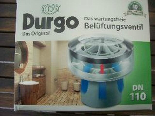 Durgo Belüftungsventil DN 110 für den Einsatz von 6 bis 12 Bäder mit Isolierung