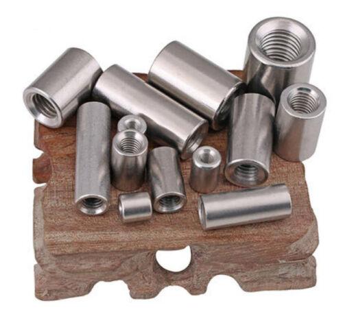 1//5 304 SS ROUND Coupling nuts M5 M6 M8 M10 M12 M14 M16 Thick Rod Connection Nut