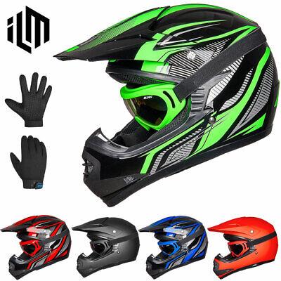 Youth-L, Matte Black ILM Youth Kids ATV Motocross Dirt Bike Motorcycle BMX Downhill Off-Road MTB Mountain Bike Helmet DOT Approved