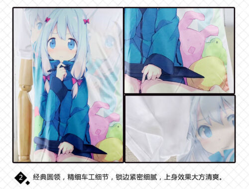 Anime Super Sonico Casual T-shirt à manches courtes Unisexe Tops Summer Tee #CJ4R
