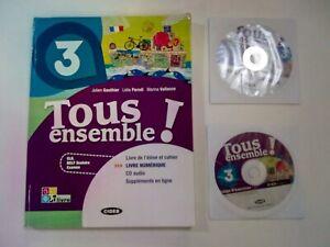 LIBRO Livre numerique. Per la Scuola media. Con CD Audio TOUS ENSEMBLE 3 +CD +LD