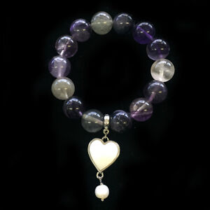 BOWERHAUS-Amethyst-Bracelet-Pearl-Charm-with-24K-Gold-Plated-Fashion-Jewelry