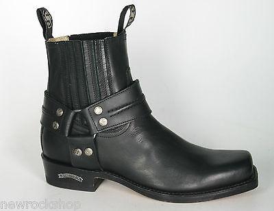 f4923de716a Sendra 2746 Men Cowboy Boots Black Leather Ankle Western Biker   eBay