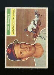 1956-Topps-BB-Card-330-Jim-Busby-Cleveland-Indians-NM-MT-OR-BETTER