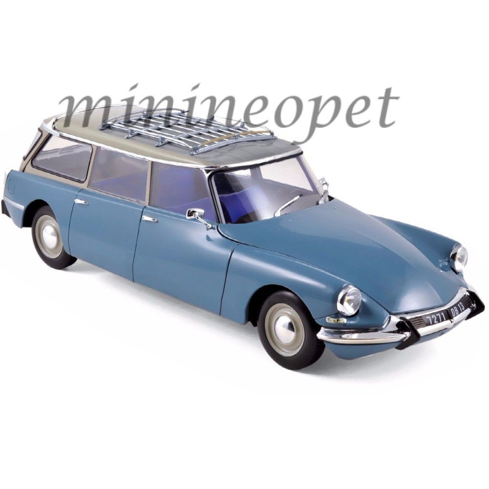 NOREV 181591 1967 CITROEN ID 19 BREAK WAGON 1 18 DIECAST MODEL MONTE CARLO bleu