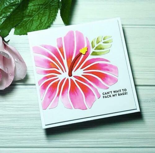 Hibiskus Blume Metal Cutting Dies Scrapbooking Embossing Decorative Tagebuch