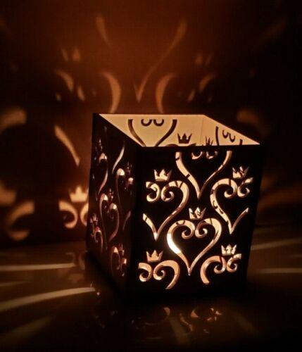 Kingdom Hearts Inspired Wooden Tea Candle Light Holder Lantern Box Disney Mickey