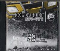 2006 Bombardier Atv-vtt Service,parts,owners Manual On Cd Rom 219 700 735 (945)