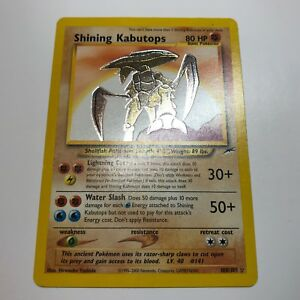 POKEMON-1X-SHINING-KABUTOPS-108-105-HOLO-RARE-CARD-NEO-DESTINY-UNLIMITED-NM-LP