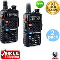 2 X Baofeng Bf-f8+ Dual Band Uhf/vhf Two Way Fm Ham Radio + Uv-5r Earpiece Us