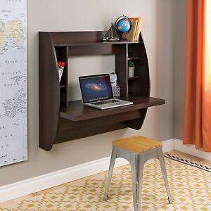 Wall Mount Space Saving Modern Laptop Computer Desk In
