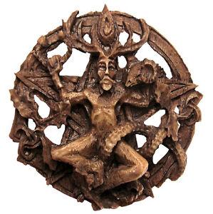 Cernunnos Round Wall Plaque - Dryad Design - Celtic Horned God Wiccan Pagan