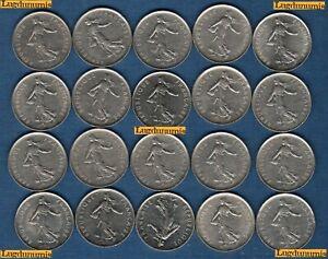 Lot-de-20-pieces-de-5-Francs-Semeuse-TB-a-SUP-Veme-Republique-1959