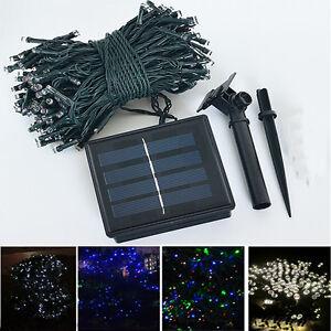 100 500 led solar lichterkette lichtskette solarleuchte kette garten au en ip44 ebay. Black Bedroom Furniture Sets. Home Design Ideas