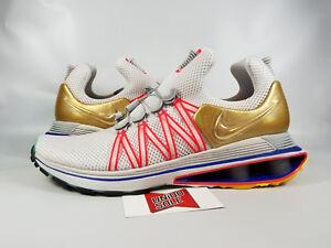 10e668c20504e3 Nike Shox Gravity VAST GREY WHITE METALLIC GOLD AQ8553-009 9.5 TURBO ...