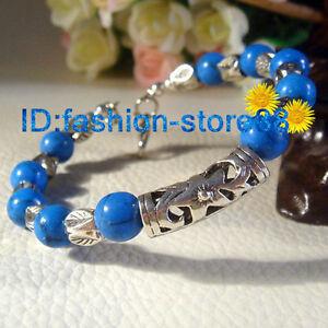 Handmade-Tibetan-Silver-Lucky-Turquoise-Beads-Bracelet-Tibet-Bangle