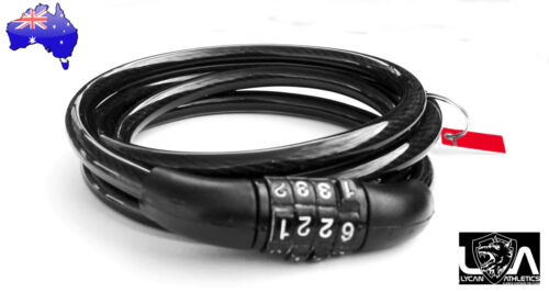 Bike Bicycle Code Combination Lock Black 4-Digital Steel Cable NEW