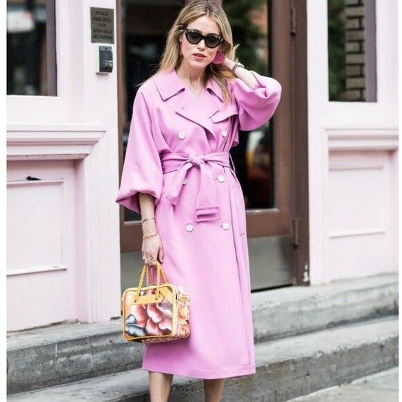 Tibi Trench Coat Pink - NWT Size XXS