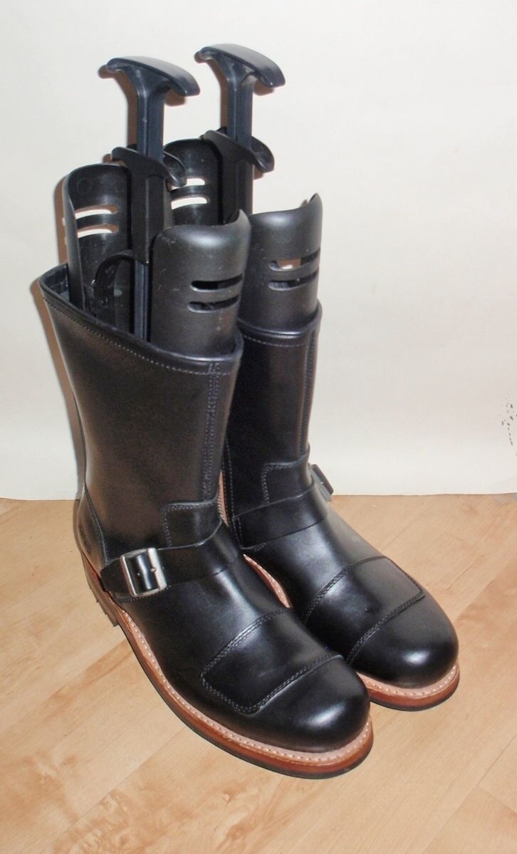 BNIB CLARKS NORTON mens NORTON BRASS black leather biker boots size 11 G EUR 46