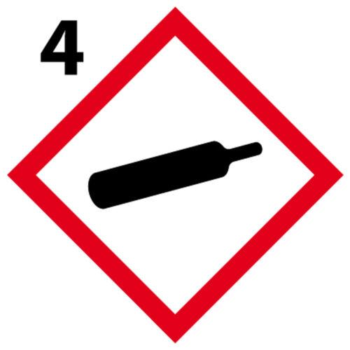 10cm Gaz  Lot 4 Stickers autocollant danger interdit obligatoire GHS4