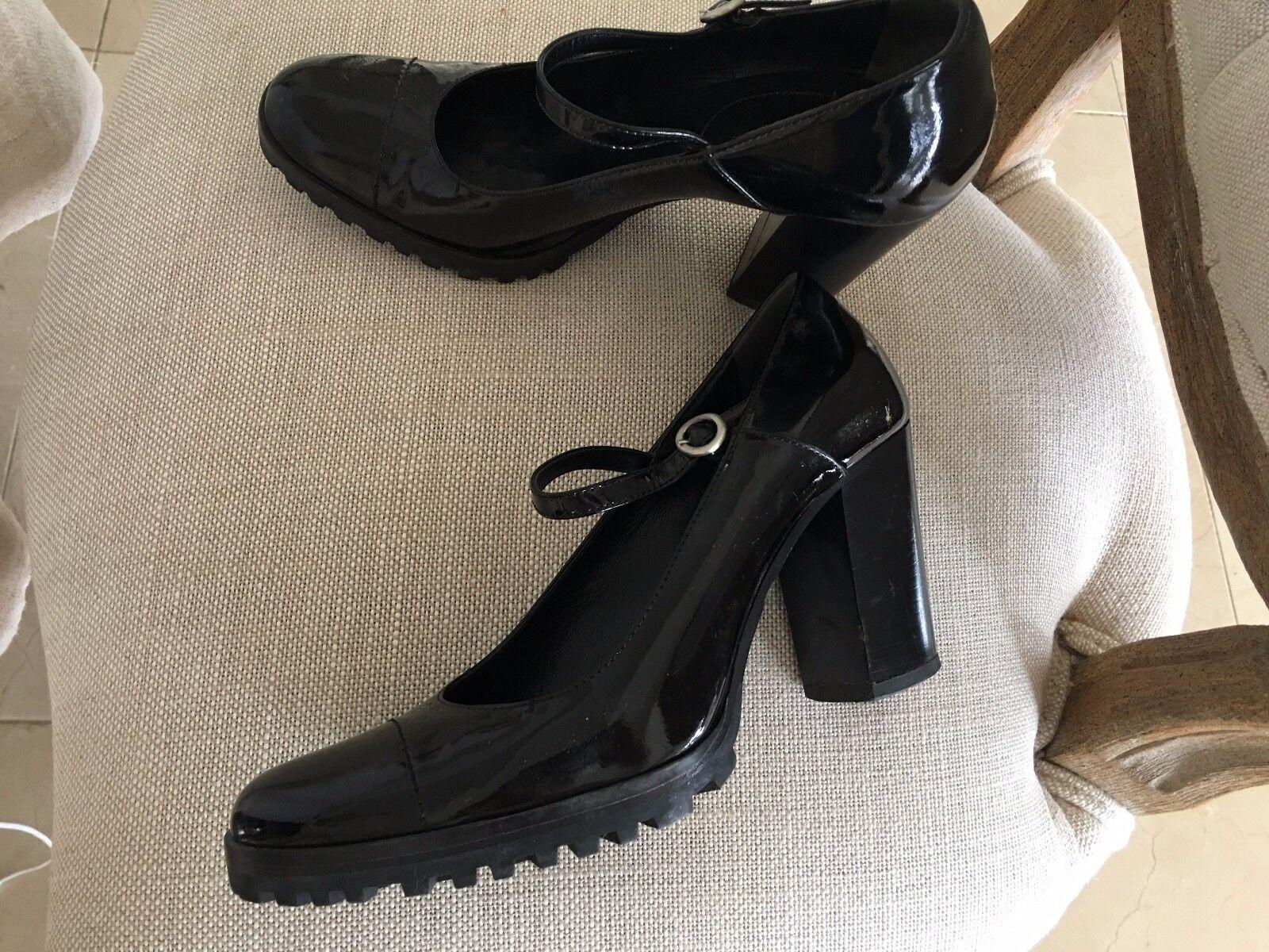 Miu Miu Patente Negro Estilo Europeo Zapatos de en EE. UU. hecho en de Italia bd09b3