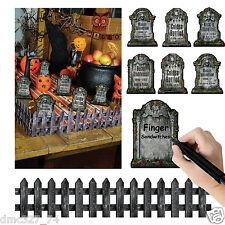 9 pc Set HALLOWEEN Party Decoration Prop PAPER TABLETOP GRAVEYARD Tombstones
