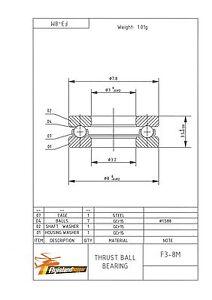 SûR Axial Pression Camp F 3-8 M 3x8x3,5 Mm Inversion Ball Bearing F3-8m-afficher Le Titre D'origine Qualité SupéRieure (En)