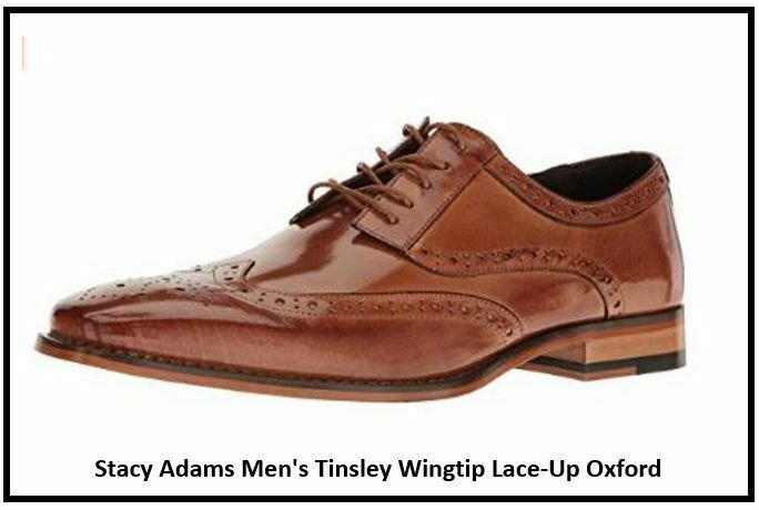 Stacy Adams Men's Tinsley Wingtip Lace-Up Oxford Tan 9 M US