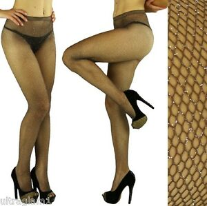 a5f90b721b9 Image is loading Coffee-Silver-GLITTER-FISHNET-PANTYHOSE-TIGHTS-CROSSDRESSER -DRAG-
