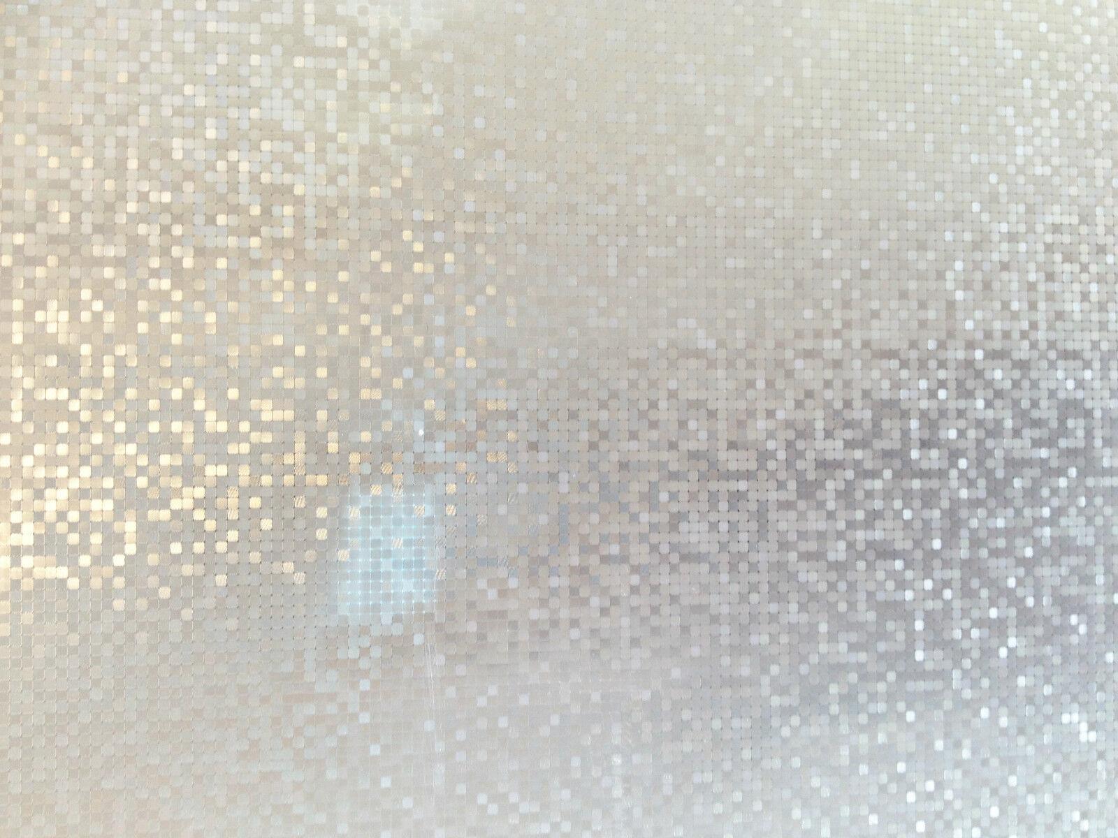 Elegante & Leggiadro VETRO SATINATO statica decorativa Vinile Privacy Finestrino Film