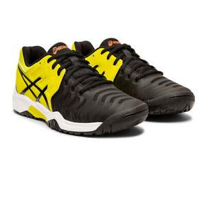 Adaptable Asics Hommes Gel-resolution Gs Junior Chaussures De Tennis-noir Jaune Sport-afficher Le Titre D'origine CaractèRe Aromatique Et GoûT AgréAble