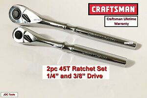 "CRAFTSMAN HAND TOOLS 3//8/"" drive FULL POLISH Quick Release Ratchet Socket Wrench"
