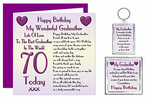 Image Is Loading Godmother Birthday Gift Set Card Keyring Magnet Ages