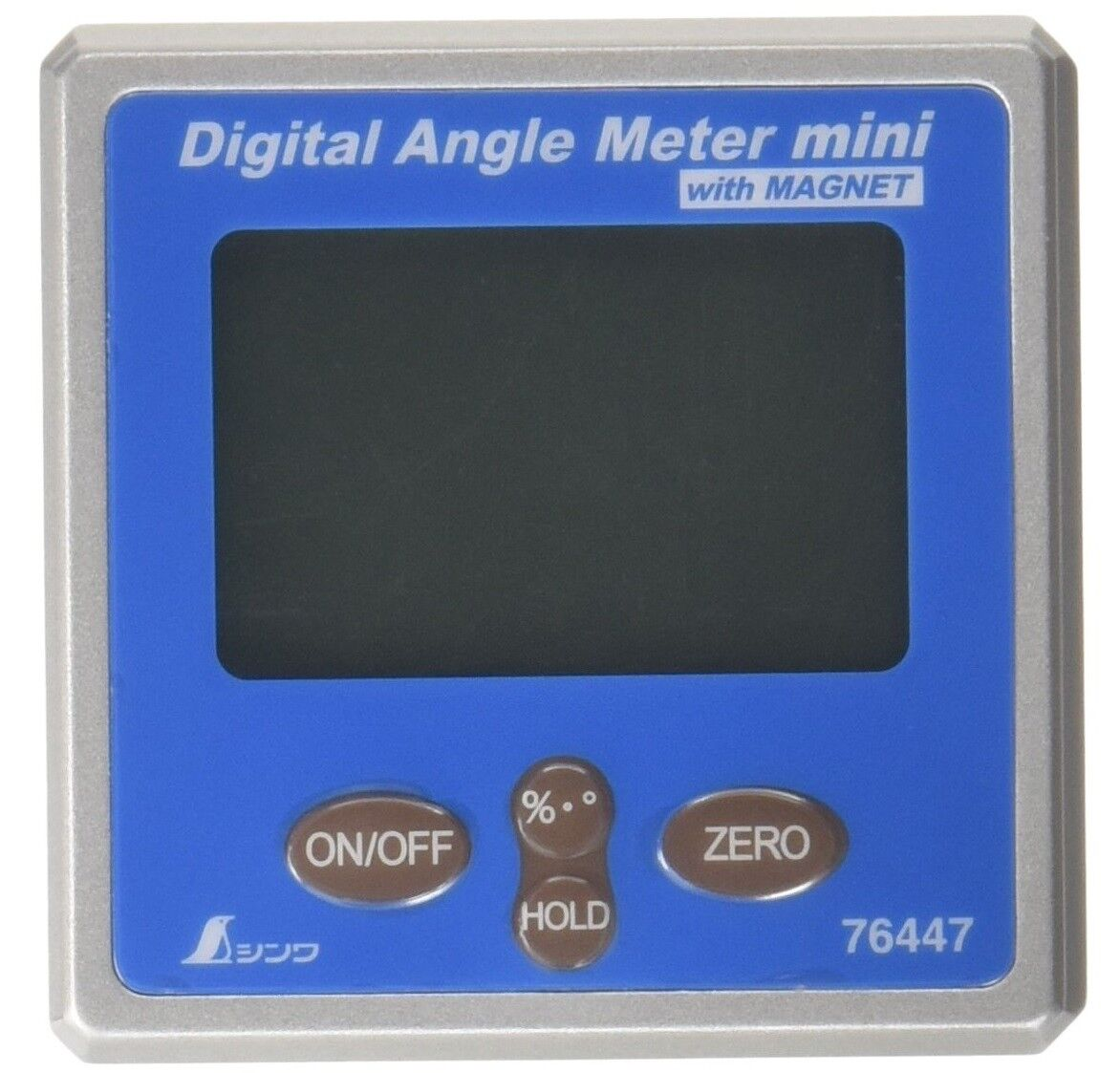 SHINWA MINI DIGITAL ANGLE METER WITH MAGNET (56x56x30mm) 76447