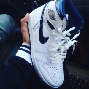 Nike Air Jordan 1 Retro High OG Metallic Navy 555088-106 Men's ...