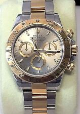 Rolex Cosmograph Daytona 2-Tone 18k Yellow Gold/SS Slate Grey Dial Model 116523