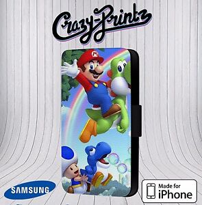 Super-Mario-Yoshi-Cool-pour-Iphone-Samsung-Etui-Housse-Clapet-Cuir