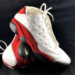 ec0c3ea2a565 Nike Air Jordans 13 13s Low size 12 Michael Jordan White Cherry Red ...