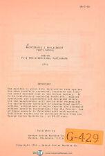 Gorton P1 2 2701 Pantograph Maintenance Amp Replacement Parts Manual 1956