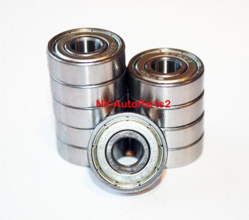 Lot of 10 pcs 6200-ZZ Ball Bearings 10mm x 30mm x 9mm