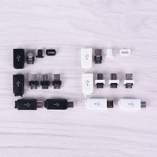10pcs//lot diy usb micro interface assembly adapter connector plug socket LTUS