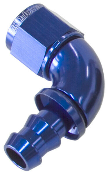 Aeroflow -10AN 90 Deg Full Flow Push Loc Blue Full Flow Push Lock AF513-10