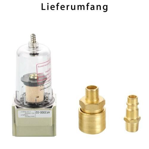 """Druckluftfilter Wasserabscheider Ölabscheider INKLUSIVE 1//4/"""" Schnellkupplung NEW"""